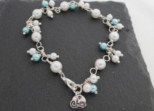 Aurora Gemstones' bridal bracelet design