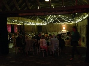 The interior of the Byre during a concert performance. Not the best photo.
