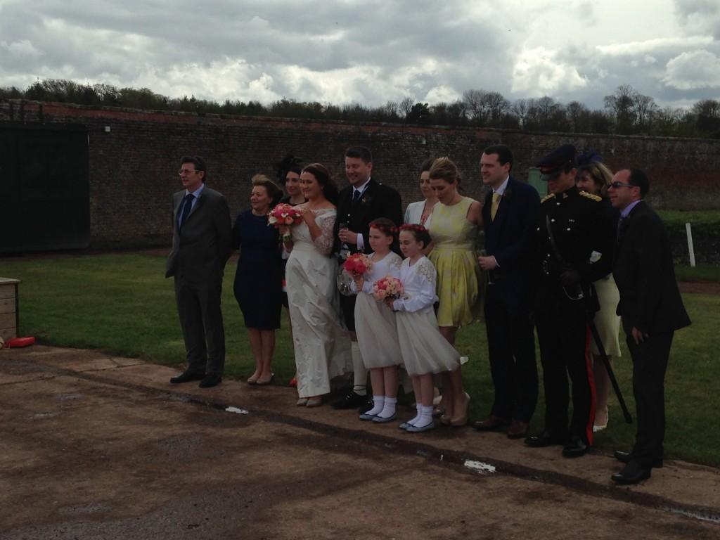 A very windy wedding shoot...