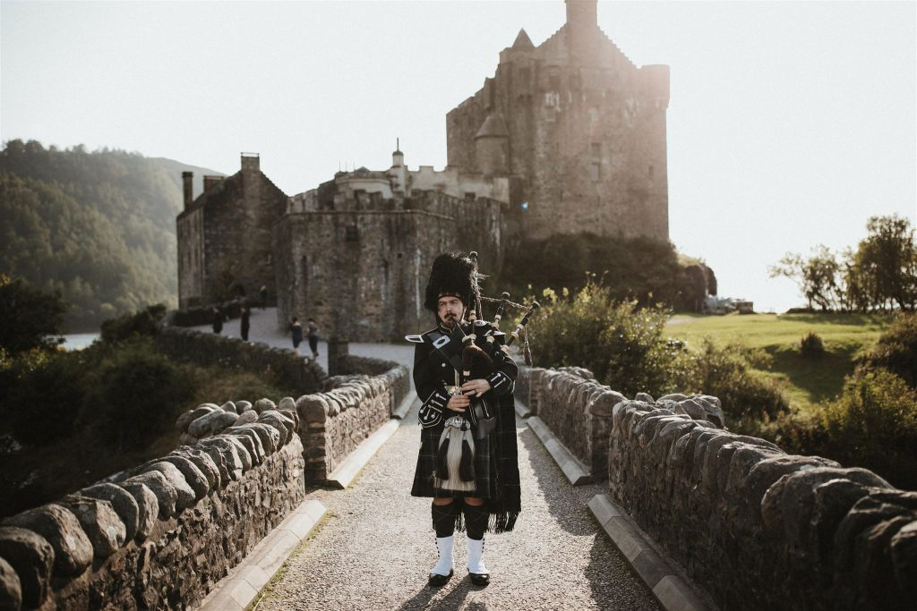 Rich Gordon at Eilean Donan Castle. Image courtesy of James Frost Photography